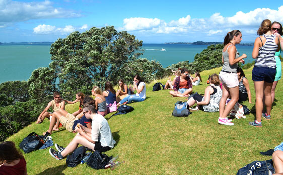 Auckland city day trip with New Zealand Internships