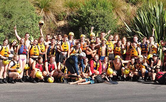Group photo Rotorua trip New Zealand Internships