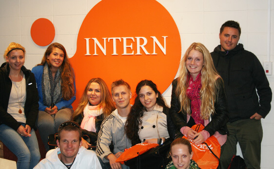 Interns at the office of New Zealand Internships
