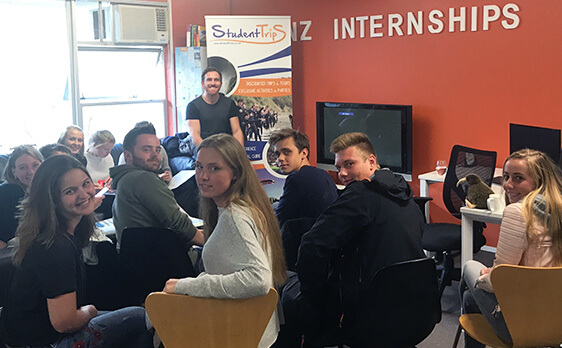 Interns at the orienation with New Zealand Internships