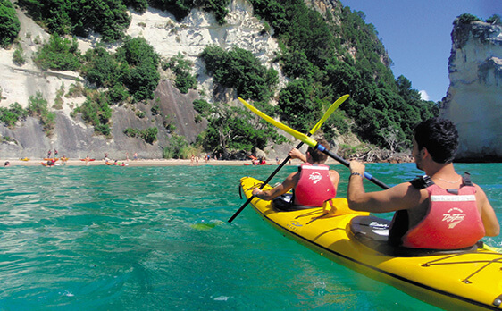 Kayaking during coromandel trip