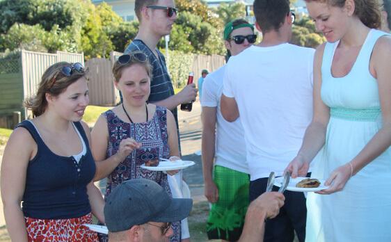 New Zealand Internships beach bbq