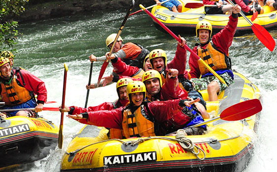 Rafting with new zealand internships