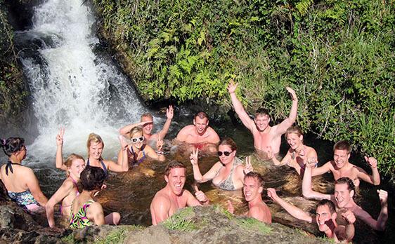 Thermal hot pool Tongariro Crossing weekend trip
