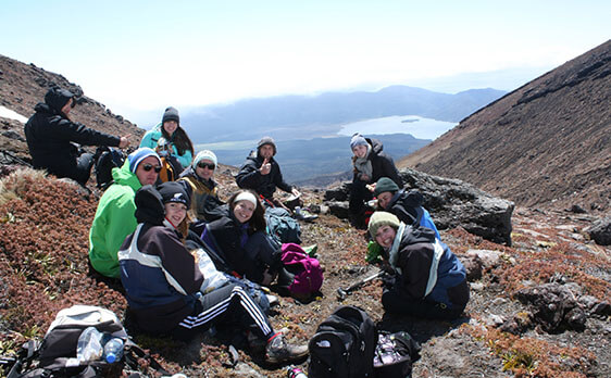 Tongariro Crossing weekend trip New Zealand Internships
